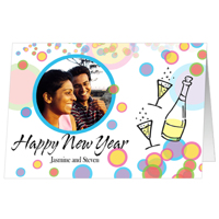 A3 New Year Bubbles Set of 25 Cards