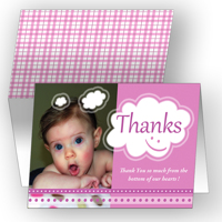 Thankful Thoughts - Pink Card