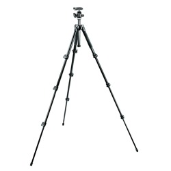 Manfrotto-293 Aluminium Kit, Tripod 4 sections with Ball Head QR #MK293A4-A0RC2-Trépieds & Monopieds