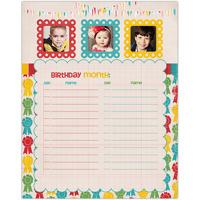 Birthday Month<br>Dry Erase Magnet Board<br>11x14