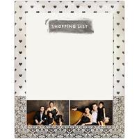 Black & White<br>Dry Erase Magnet Board<br>11x14