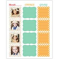 Chores & Goals<br>Dry Erase Magnet Board<br>11x14