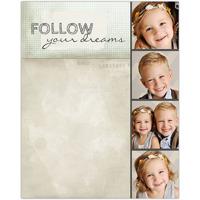 Follow Your Dreams<br>Dry Erase Magnet Board<br>11x14