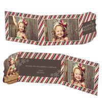 Peppermint Stripes<br>5x7 Tri Fold<br>Ornate Flap