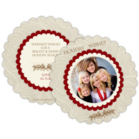 Holiday Wishes<br>5x5<br>Scalloped Circle