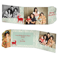 Red Reindeer<br>5x7 Tri Fold<br>Ornate Flap