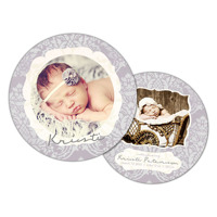 Wisteria<br>5x5 Circle<br>Double Sided