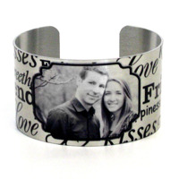 Kisses<br>Metal Cuff Bracelet