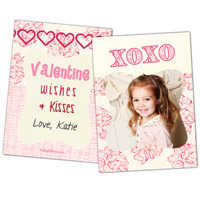 Wishes & Kisses<br>5x7<br>Double Sided