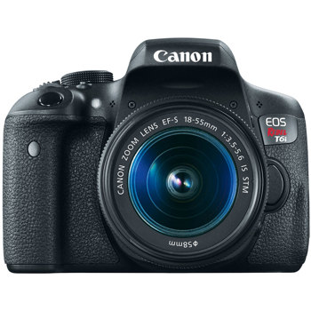 Canon-EOS Rebel T6i with EF-S 18-55mm IS STM Lens - Black-Digital Cameras