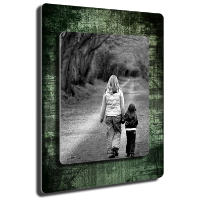 8x10 on 11x14 twin layer hd metal rough green portrait gift 8x10 on 11x14 twin layer hd metal rough green portrait thecheapjerseys Images