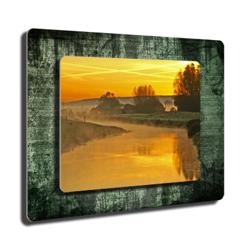 8x10 on 11x14 twin layer hd metal rough green landscape gift 8x10 on 11x14 twin layer hd metal rough green landscape thecheapjerseys Images