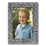 5X7'' Single Layer HD Metal Fathers Day Portrait
