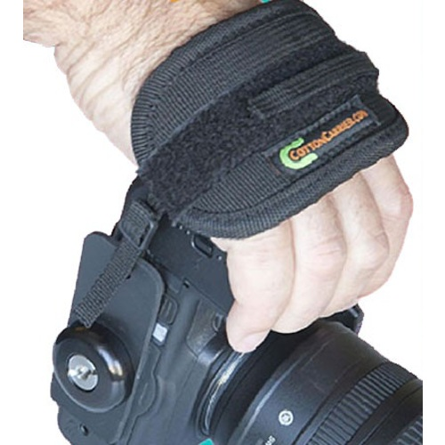 Cotton Carrier-Camera Hand Strap with Hub - Black-Camera Straps & Vests