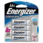 Energizer-Ultimate Lithium AA Batteries - 4 Pack