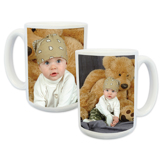 15oz White Photo Mug (2-image)