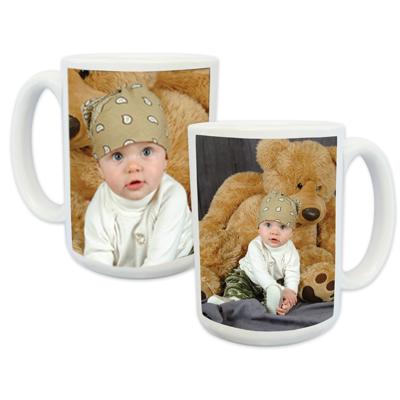 15oz White Photo Mug (2-image)