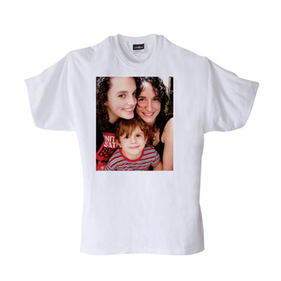 Adult T-shirt White with image - X-Large