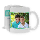 "11oz. White Ceramic Mug ""Dad"" Single Image, Horizontal (PG-71F_H)"
