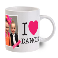 I Love Dance Photo Mug