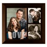 Framed Collage Print (6x6.5_V-Love_Walnut)