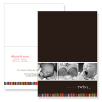 Slimline Greeting Card 298 - 5x7 H Folded