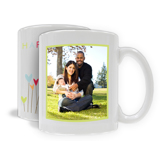 "11oz. White Ceramic Mug ""Happy Spring"", Vertical (PG-71D)"