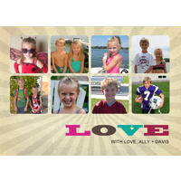 Loveburst Collage: 10pk Valentine Cards