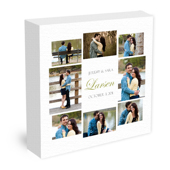 "24x24"" Wedding Collage Canvas"