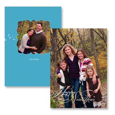 greeting overlay blue 10pk new year cards