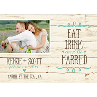 Carved in Wood: 10pk Save The Date Cards