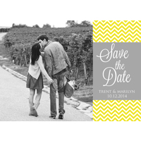 Yellow Chevrons: 10pk Save the Date Cards