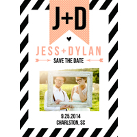 Tuxedo Stripes: 10pk Save the Date Cards