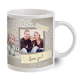 Grey Flower Photo Mug