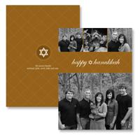 Hanukkah Argyle (Gold): 10pk Hanukkah Cards