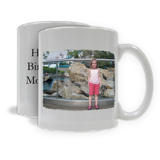 Simple Horizontal Photo and Text Mug