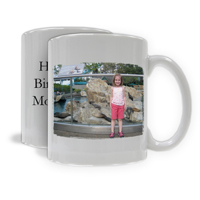 Photo Mug - Horizontal Image with Text
