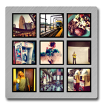 """8x8"""" Single Layer HD Metal Collage Instagram"""