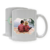 Merry Christmas Horizontal Benelux Photo Mug