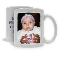 Photo Mug - Vertical Image with Text