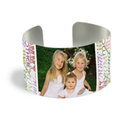 Cuff Bracelet (PG-185J) Silver Finish Mom Design 1 Photo