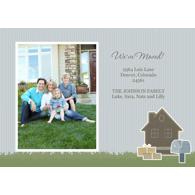 Carte photo 5 x 7 horizontale - 1 côté / Déménagement / Petite maison (Anglais)