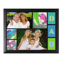 Framed Collage Print (11.5x9_H Dad Black)