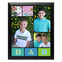 Framed Collage Print (11.5x9_V Dad Black)