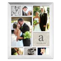 Framed Collage Print (11.5x9_V_monogram white)