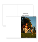 Single Portrait Photo Folded Card