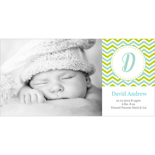 Birth Announcement (13-089) Single Card