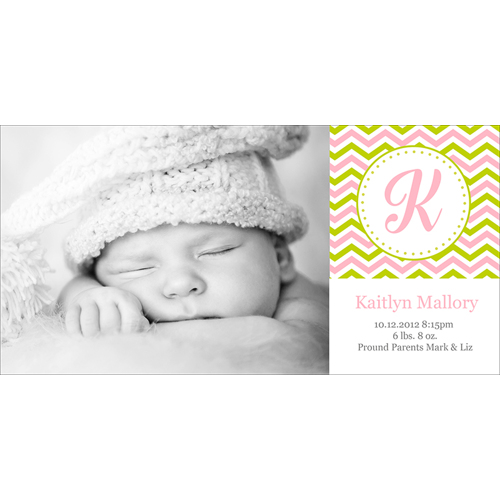 Birth Announcement (13-090) Single Card