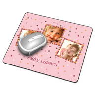 Mouse Pad (3 Image Pink)