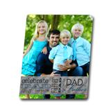 8x10 Metal Celebrate Dad